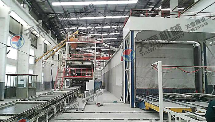 天意夹芯墙板生产线